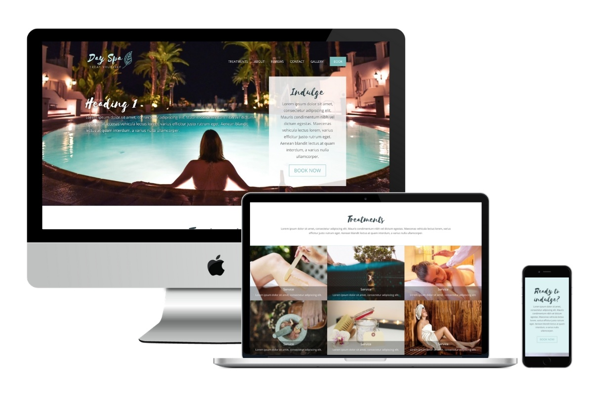 One Page Spa Website with Booking 1