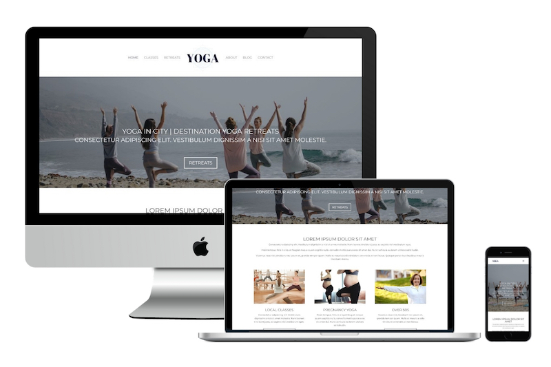 Affordable Health & Wellness Websites – New Yoga Template