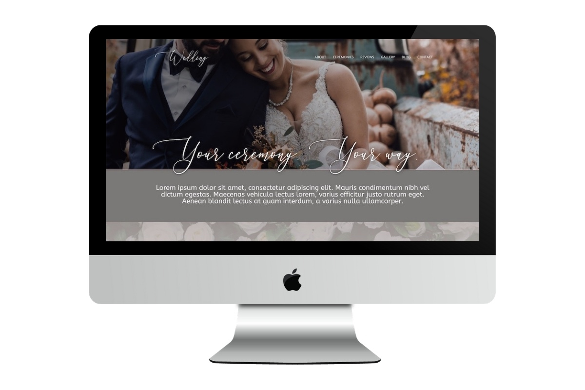 Six Page Celebrant Website 1