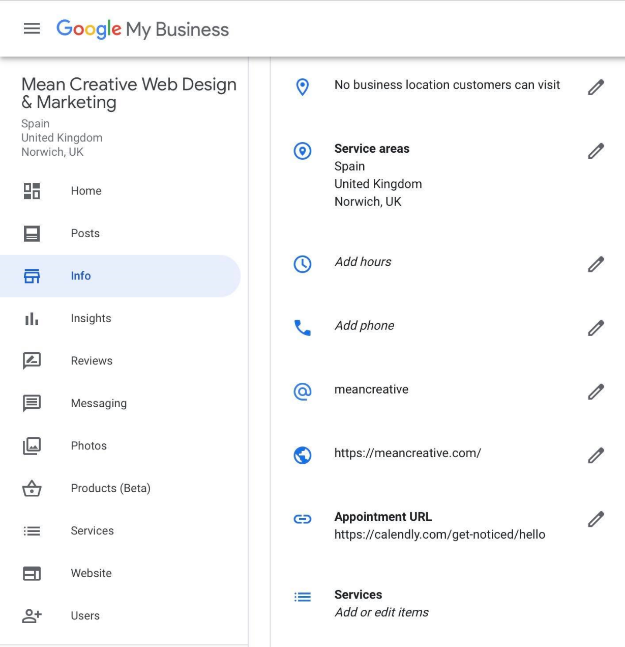 Adding information and opening hours on Google My Business