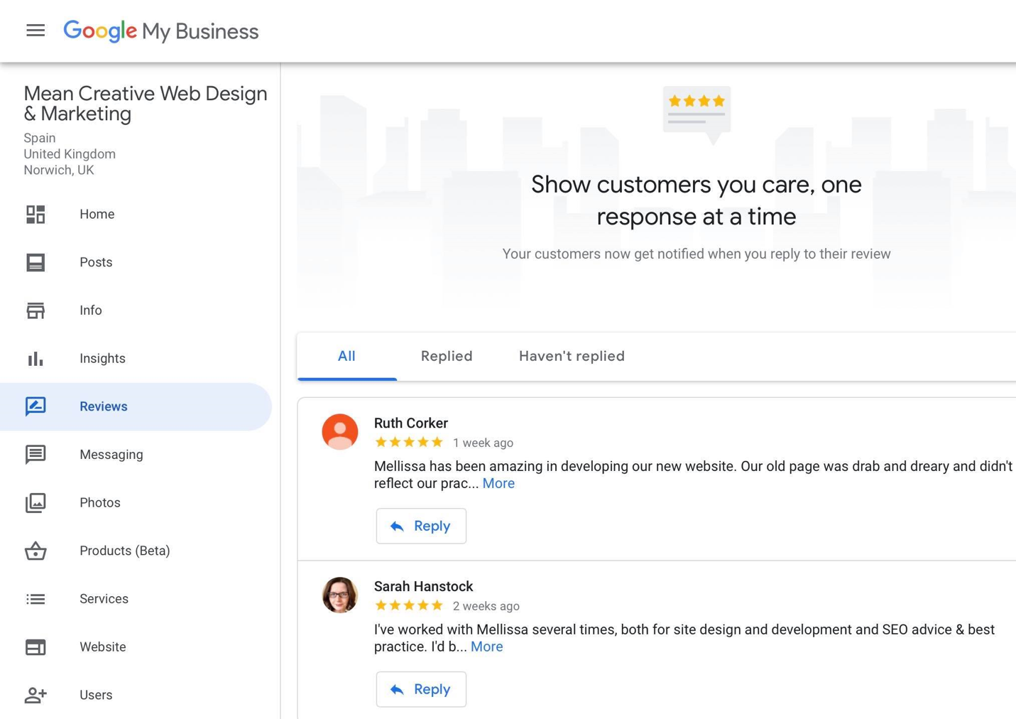 Adding reviews on Google My Business