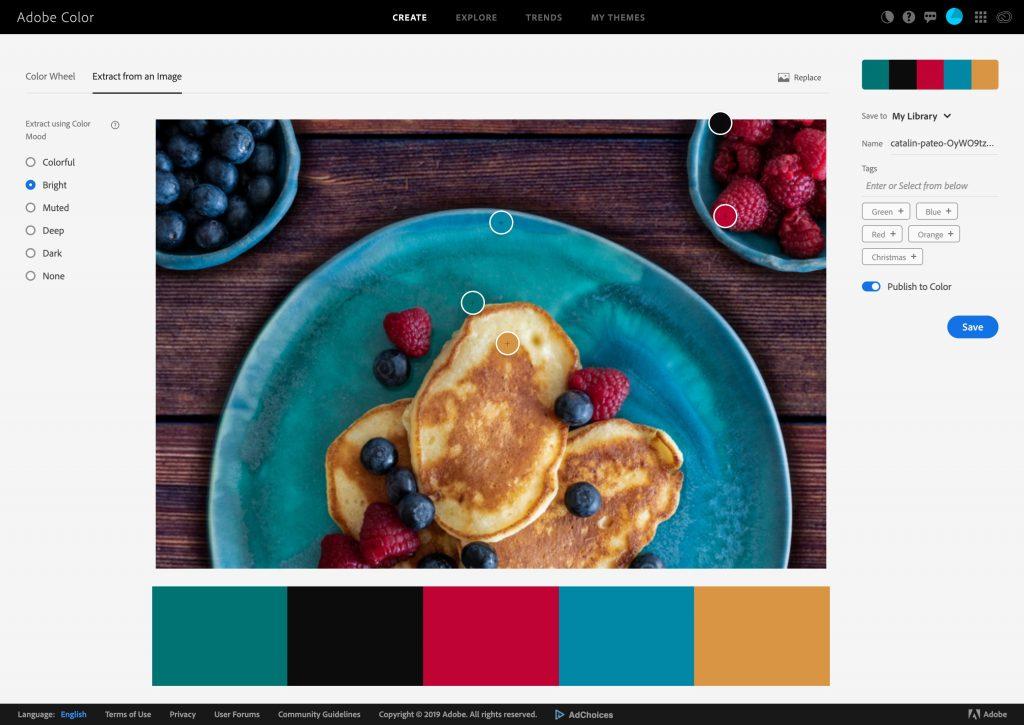 Adobe Color Winter Colour Palette