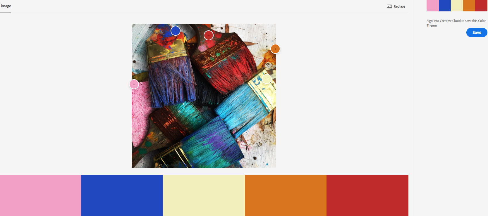 Adobe Colour Screenshot Paintbrushes in Winter Palettes