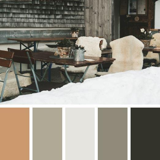 Interior design winter colour palette
