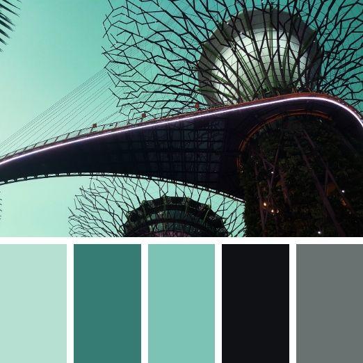 Olive green bridge Singapore winter colour palette