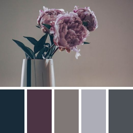 Sad roses in muted tones winter colour palette