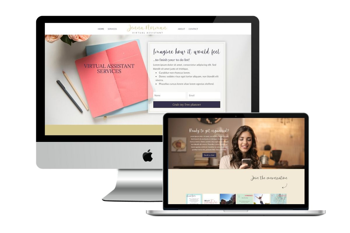 Website Template Selection 1