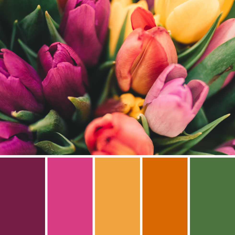 Spring Colour Palettes + Hex Codes 1