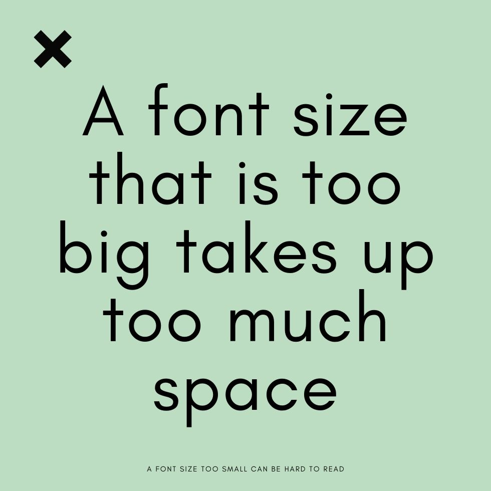 brand fonts in appropriate sizes