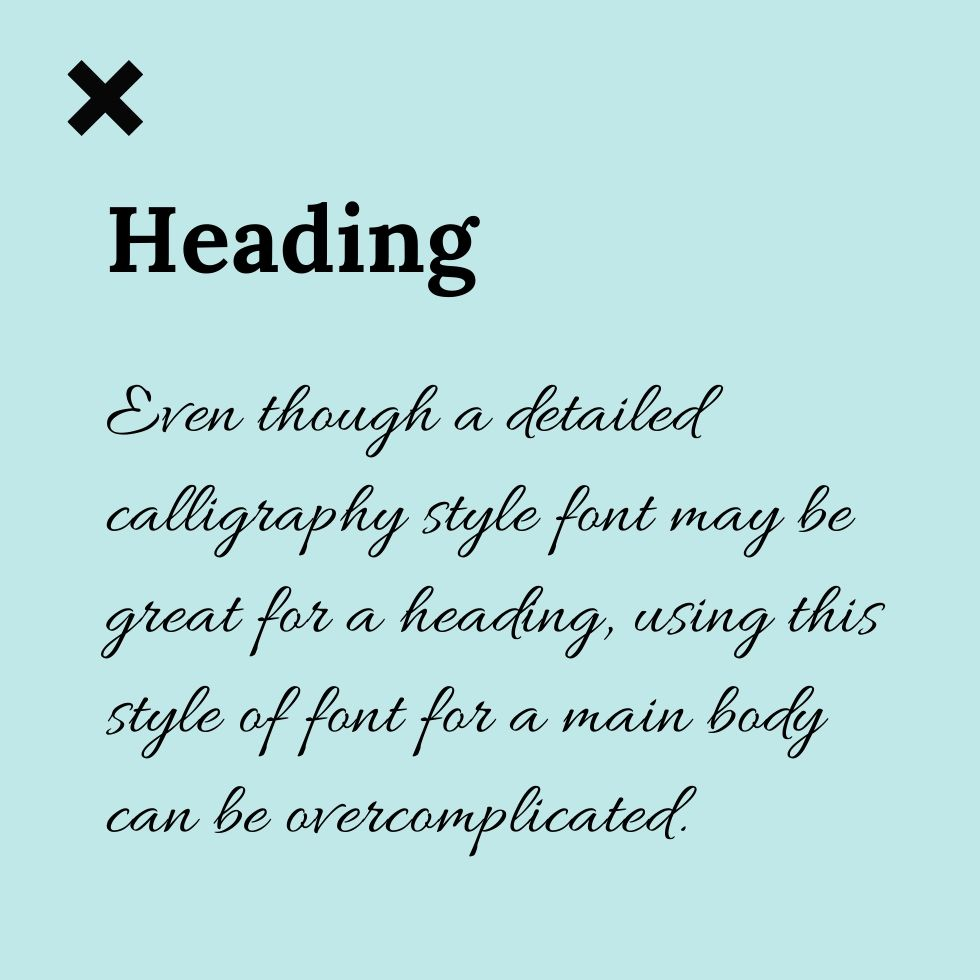 use the right brand font for headings and body text