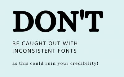 How to use the right fonts for your brand – 8 Tips from a Designer