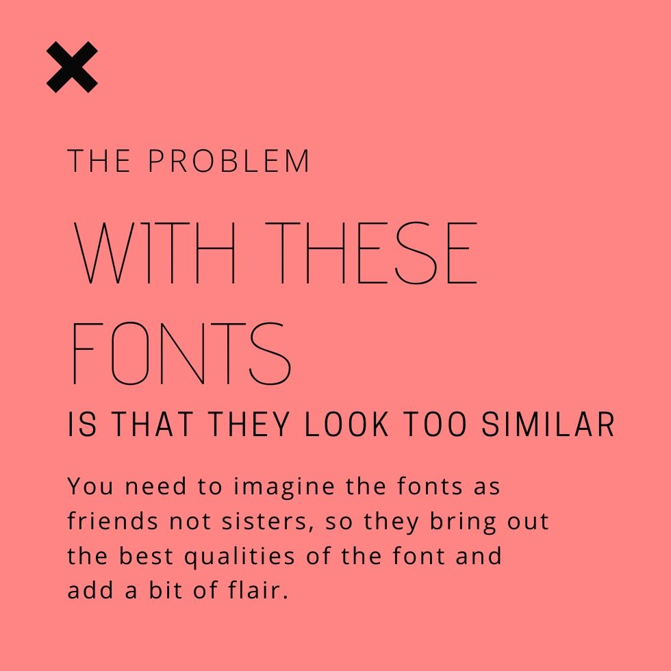 use contrasting fonts for your brand