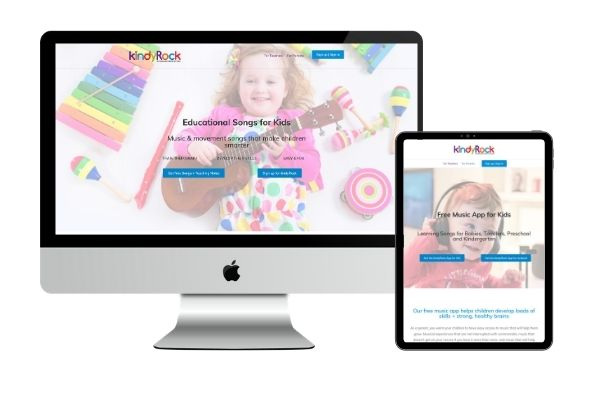 kids app and membership website redesign