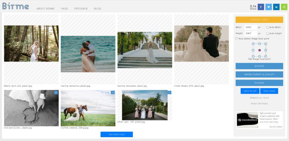 optimise images for web online