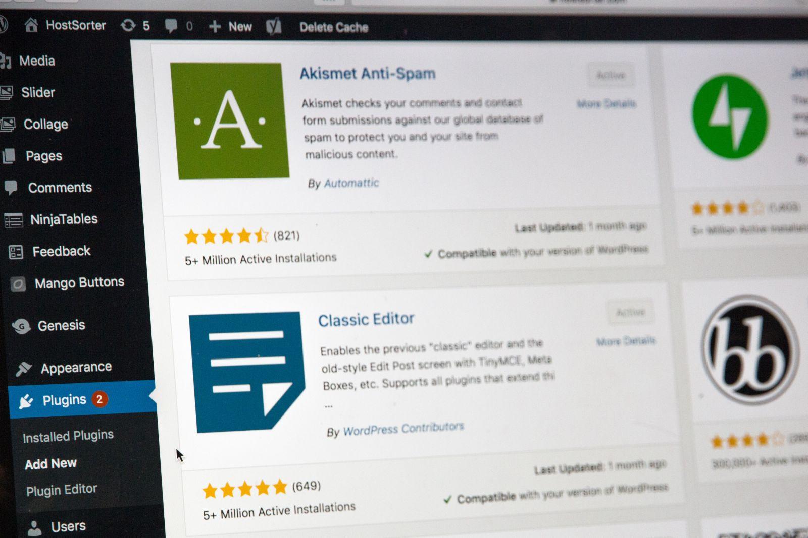 wordpress plugins - plugin search